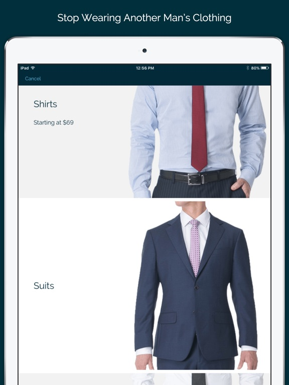 Mtailor custom shirts suits on the app store for Custom dress shirts app