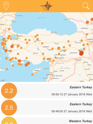 World earthquake map on the app store ipad screenshot 1 gumiabroncs Image collections