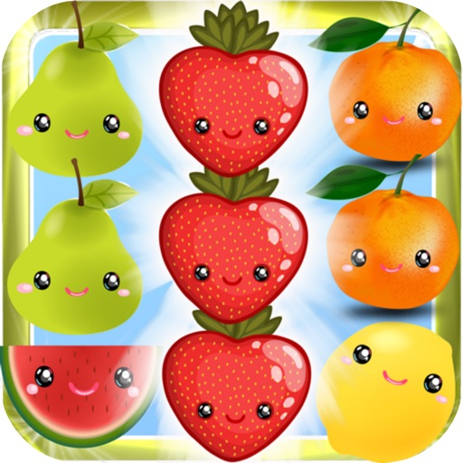 Crazy Fresh Fruit Match-3 Line iOS App