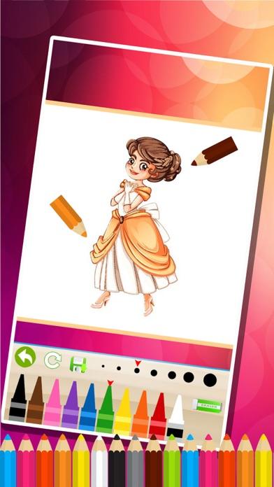 princesse des pages à colorier - Jeux de peinture pour les enfantsCapture d'écran de 3