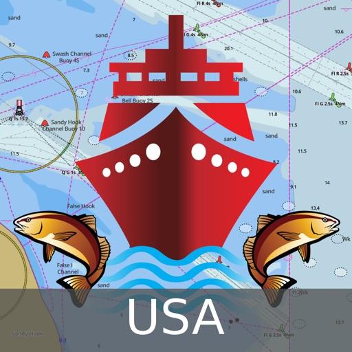 Marine Navigation - Lake Depth Maps - USA - Offline Gps Nautical Charts for Fishing, Sailing and Boating App Ranking & Review