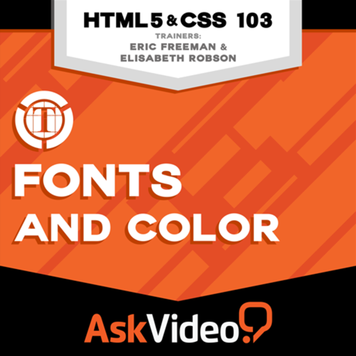Course for HTML5 and CSS 103 - Fonts and Color
