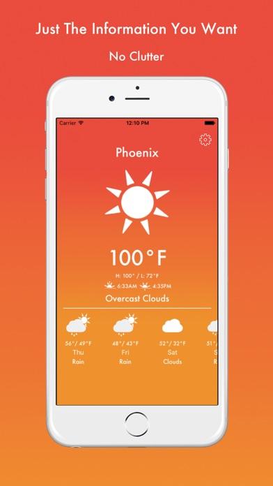 GoodWeather - Temperature Color Weather App Screenshot