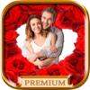 Amor Molduras para fotos criam cartões postais com imagens de amor romântico - Premium
