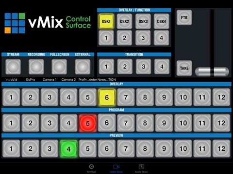 vMix Virtual Control Surface by Seth Haberman
