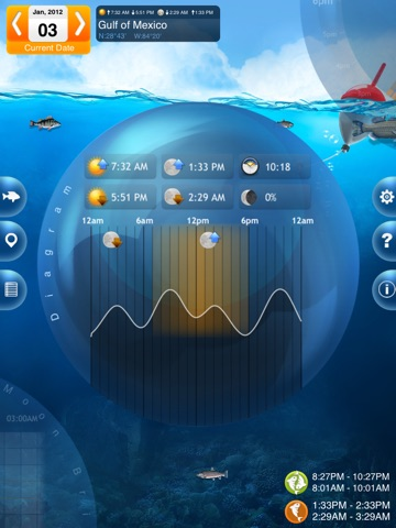 Screenshot #3 for Fishing Deluxe - Best Fishing Times Calendar