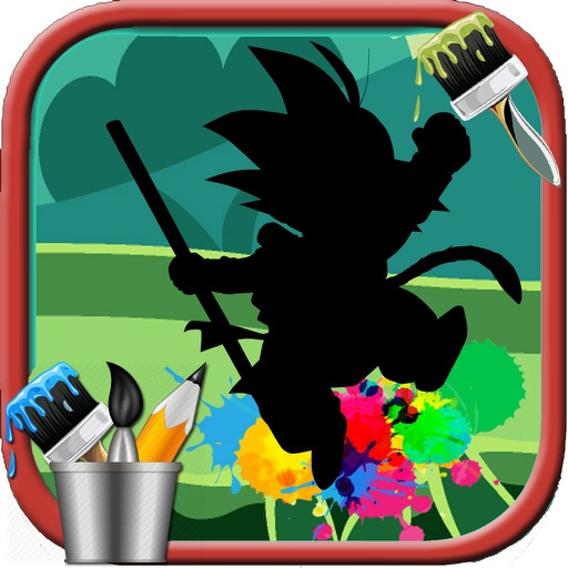 Kids Coloring Books Goku super saiyan god Edition iOS App