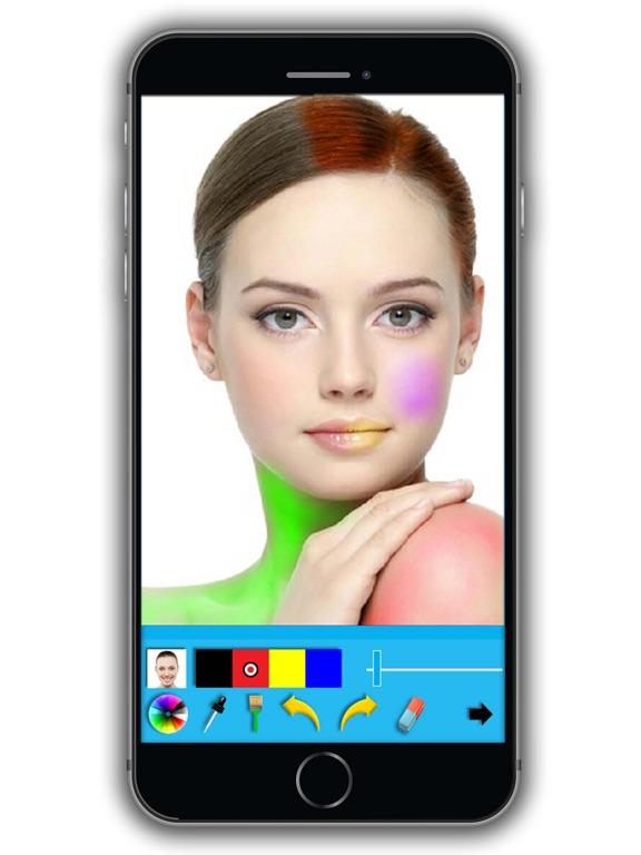 Айфон приложение смена цвета волос