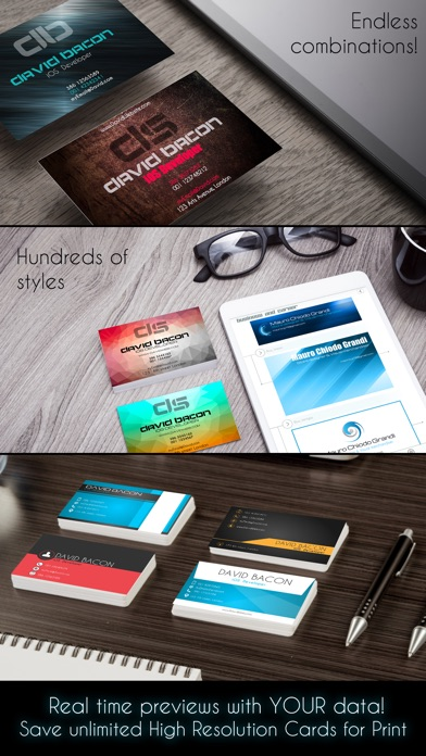 Business Card Creator PRO screenshot 2
