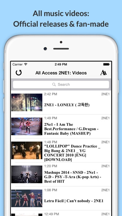 download All Access: 2NE1 Edition - Music, Videos, Social, Photos, News & More! apps 1
