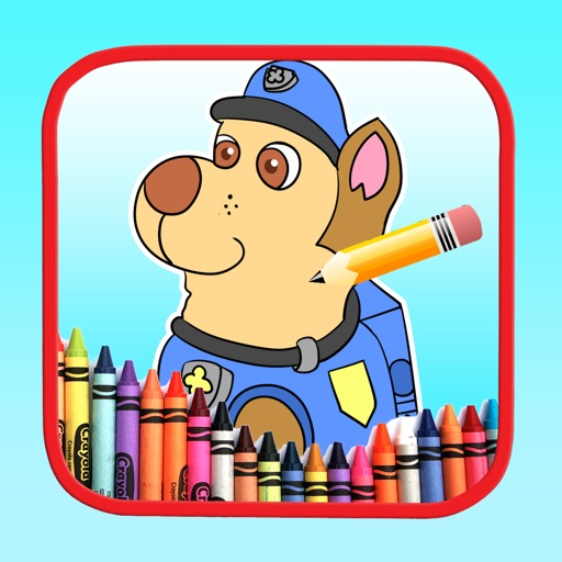 Coloring Kids Learning for Paw Patrol Edition Icon
