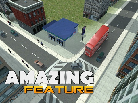 Screenshots of Double Decker Bus Simulator – real 3D driving and parking simulation game for iPad