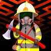 Fireman Line Up Vector - FREE - Fire Fighter vs Burning Fallout Escape Puzzle