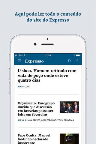 Expresso Online screenshot 1