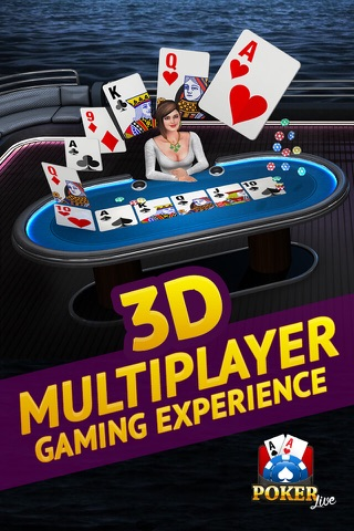 Poker Live! 3D Texas Hold'em screenshot 1