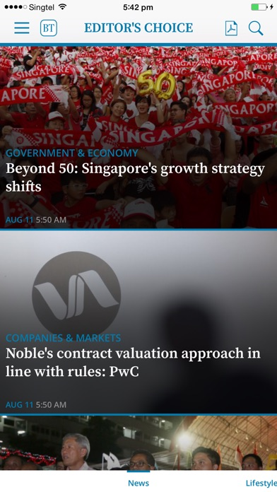 The Business Times For Iphone review screenshots