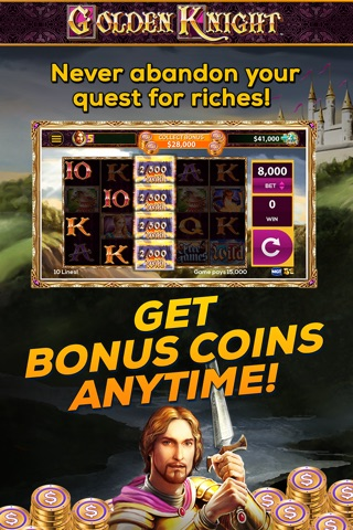 Golden Knight: FREE Vegas Slot Game screenshot 2