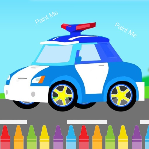 Preschool Kids Coloring Game For Robocar poli Edition iOS App