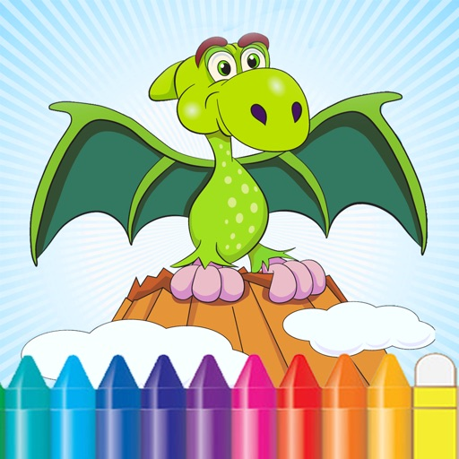 Dinosaur Coloring Book for Kids and Preschool Toddler iOS App