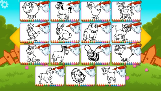 Farm Animals Coloring Book Pro - The creative free paint and color ...