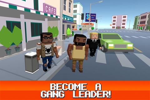 Pixel City: Crime Car Theft Race 3D Full screenshot 4