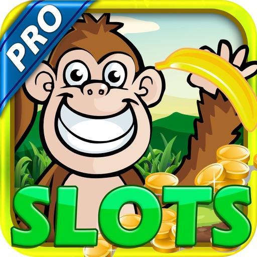 """A Monkey in the Jungle"" Slots Machine : Banana and King Kong Island Heat Bonus Game Pro iOS App"