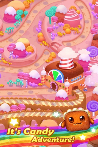 Sugar Sweet Crunch - Race and Match 3 Puzzle Blast game screenshot 3