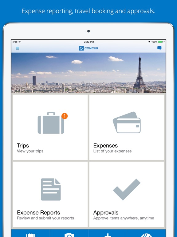 List Of Expenses Ipad Screenshot Concur Travel Receipts Expense