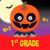 Pumpkin Face - 1st Grade Math addition and subtraction games