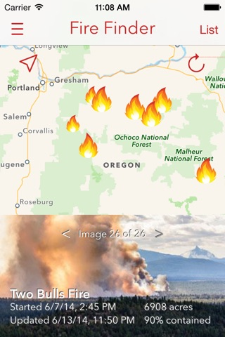 Fire Finder - Wildfire Info, Images and More screenshot 1