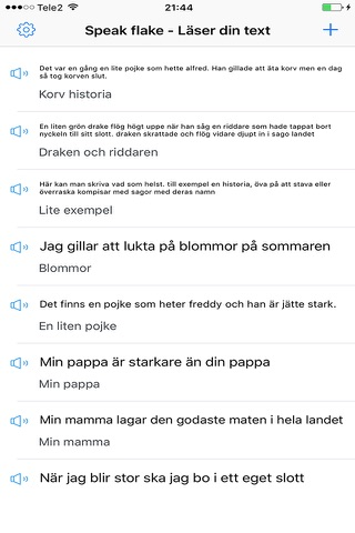 SpeakFlake - på svenska screenshot 2