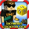 Skywars Com Lucky Block for Minecraft - Survival Multiplayer Hunt Game with Build Battle