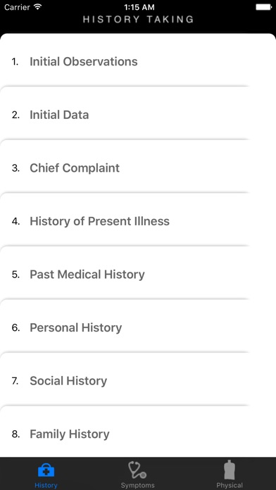 Clinicals – History, Symptoms & Physical Examination GuideScreenshot of 1