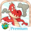 Paint dragons Magical and paste stickers - Premium