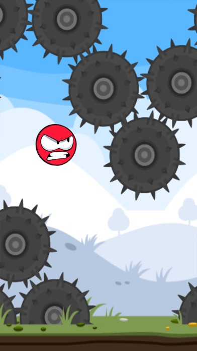 Angry Red Ball Fly - Crazy Adventure In Amazing World - Fun Ball Bounce and Jump Screenshot