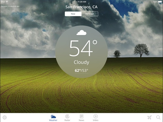 Screenshot #1 for The Weather Channel App for iPad – best local forecast, radar map, and storm tracking
