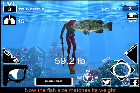 Freediving Hunter screenshot 2