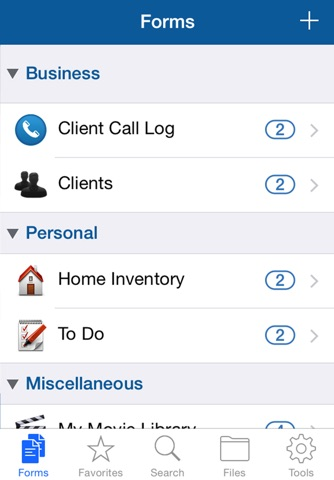 Tap Forms Lite Organizer and Secure Database screenshot 2