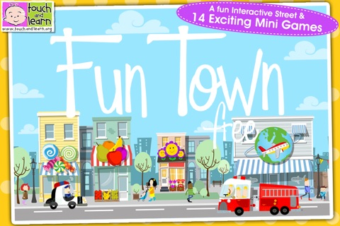 Fun Town for Kids Free - Creative Play by Touch & Learn screenshot 1