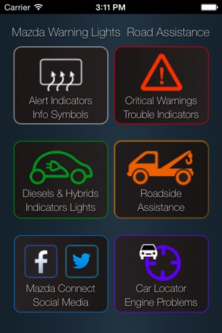 App for Mazda with Mazda Warning Lights and Road Assistance screenshot 1