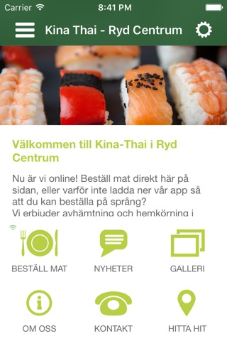 Kina Thai Restaurant screenshot 1