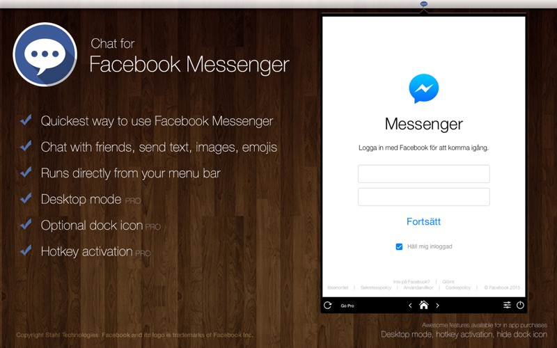 Chat for Facebook Messenger - Instant at your desktop! by