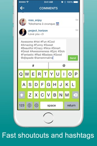 Thymble - Instagram Twitter Facebook & Periscope Social Keyboard Edition screenshot 1