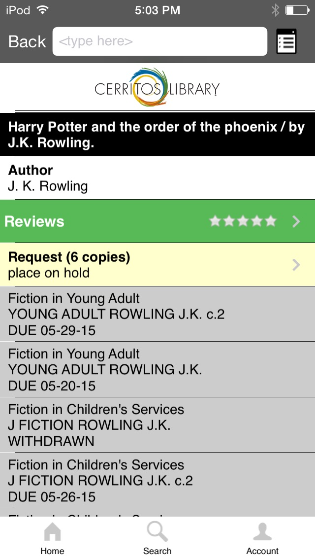 download Cerritos Library To Go apps 0