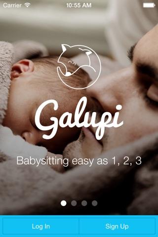 Galupi - Babysitting App screenshot 1