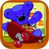 Teddy Bear Coeur Couple - Peluches Skateboard Aventure (Premium)