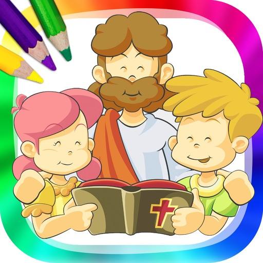La biblia para niños - dibujos para pintar y libro para colorear Por ...