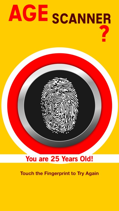 Screenshots of Age Fingerprint Scanner - How Old Are You? Detector Pro for iPhone