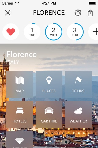 Florence Trip Planner, Travel Guide & Offline City Map screenshot 1