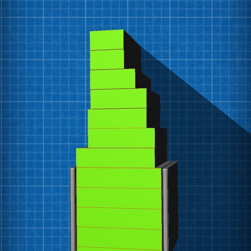 Server Stacker- (A glowing stacker puzzle game) iOS App